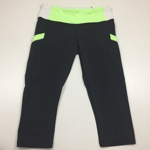LULULEMON Athletica Zip Pocket Crop Leggings Pants